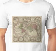 Vintage Map of The World (1730) 2 Unisex T-Shirt