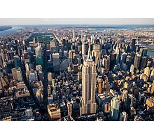 Aerial Empire State Building and Central Park Photographic Print