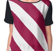 Phoenix Arizona Maroon & White Team Color Stripes Chiffon Top