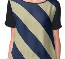 Pittsburg Pennsylvania Navy & Cream Team Color Stripes Chiffon Top