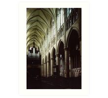 Nave of Cathedral St Etienne Chalons sur Marne France 198405060042 Art Print
