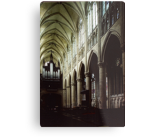 Nave of Cathedral St Etienne Chalons sur Marne France 198405060042 Metal Print