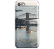 Aerial Manhattan and Brooklyn Bridges iPhone Case/Skin