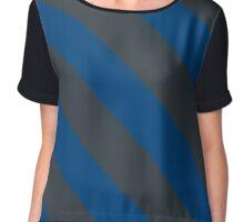 Houston Texas Blue & Grey Team Color Stripes Chiffon Top