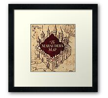 The Marauder's Map Framed Print
