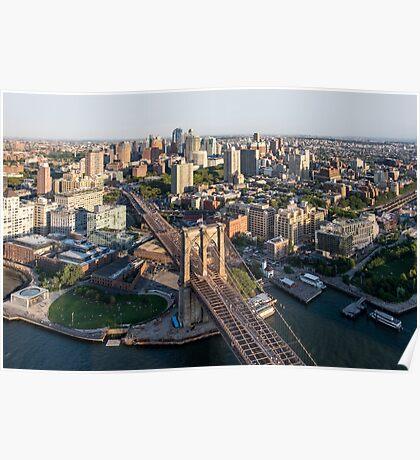 Aerial Brooklyn Poster