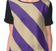 Sewanee Tennessee Purple & Cream Team Color Stripes Chiffon Top