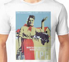 Happy East German Farmer - Socialism is the Future, old propaganda poster Unisex T-Shirt
