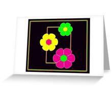 Flower Power Duvet Cover Overlay Greeting Card
