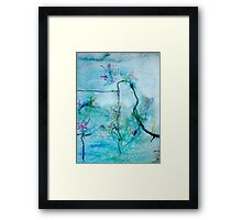 'Fence with Poison Ivy' Fragment Framed Print