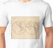 Vintage Map of The World (1821) Unisex T-Shirt