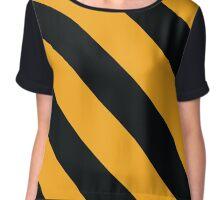 Hattiesburg Mississippi Black & Gold Team Color Stripes Chiffon Top