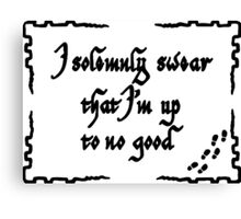 I solemly swear that i'm up to no good Canvas Print