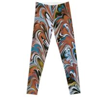 Marble Abstract In Red Leggings