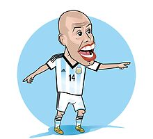 Argentina World Cup: Mascherano The BOSS!  by softdelusion