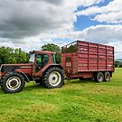 This would ruin your day! Tractor with a puncture, Co. Kilkenny, Ireland by Andrew Jones