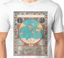 Vintage Map of The World (1913) Unisex T-Shirt