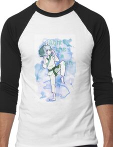 Women in Martial Arts Blue Men's Baseball ¾ T-Shirt