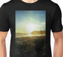 Sunset on a beach in New Zealand in Watercolor Unisex T-Shirt