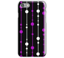 Purple, black and white pattern iPhone Case/Skin