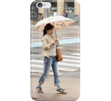Young Woman with an Umbrella iPhone Case/Skin