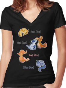One bird Women's Fitted V-Neck T-Shirt