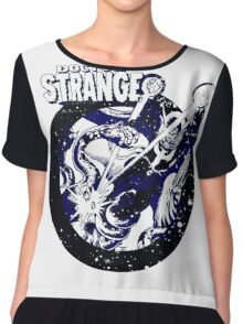 Doctor Strange • Blue & Black Chiffon Top