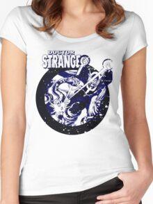 Doctor Strange •Blue & Black Women's Fitted Scoop T-Shirt