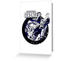 Doctor Strange •Blue & Black Greeting Card