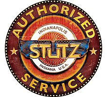 Stutz Vintage Cars USA authorized service sign Photographic Print