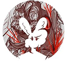 Bunny: Gore Justice - Bunny Bubble Photographic Print