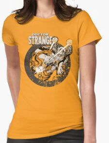 Doctor Strange • Black & White Womens Fitted T-Shirt