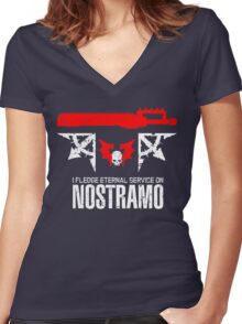Pledge Eternal Service on Nostramo - Limited Edition Women's Fitted V-Neck T-Shirt