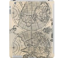 Vintage Map of The World (1598) iPad Case/Skin