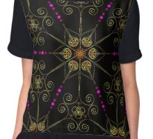 Psychedelic Pattern, Ornament, Mandala, Design, Art, Flower, Fantasy, Magic, Geometry,  Chiffon Top