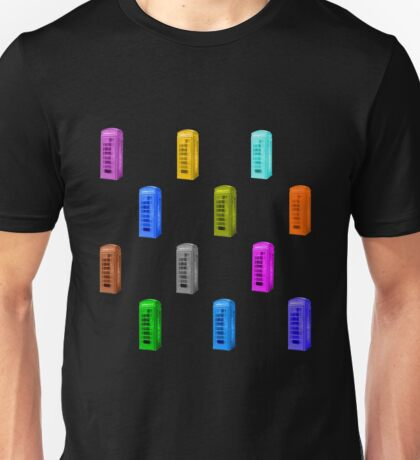 rainbow phone booth Unisex T-Shirt