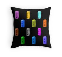 rainbow phone booth Throw Pillow