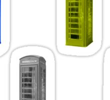 rainbow phone booth Sticker
