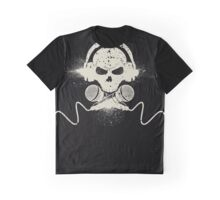 Skull and Microphones Graphic T-Shirt