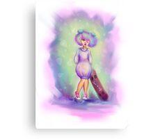 Amethyst Skater Girl - Skate Chic Canvas Print