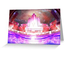 Deco Metro 80s Showcase Greeting Card