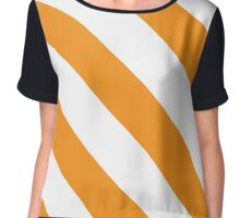 Knoxville Tennessee Orange & White Team Color Stripes Chiffon Top