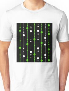 Green, black and white pattern Unisex T-Shirt