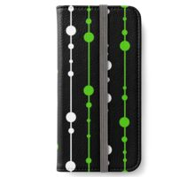 Green, black and white pattern iPhone Wallet/Case/Skin