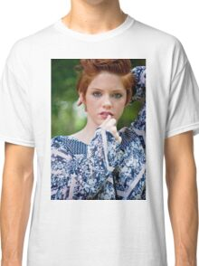 beautiful woman with red hair Classic T-Shirt
