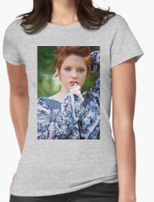beautiful woman with red hair Womens Fitted T-Shirt