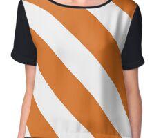 Austin Texas Orange & White Team Color Stripes Chiffon Top