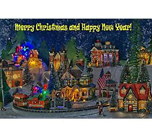 I wish you all Merry Christmas & Happy New Year! Photographic Print