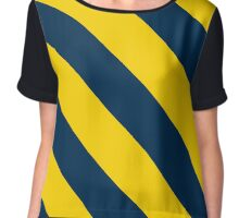 Hartford Connecticut Navy & Yellow Team Color Stripes Chiffon Top