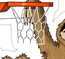 Basketballing sloth Sticker